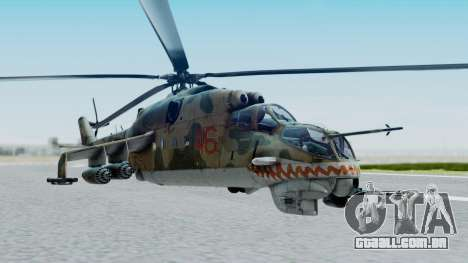 Mi-24V Russian Air Force 46 para GTA San Andreas