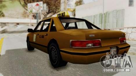 GTA 3 - Taxi para GTA San Andreas esquerda vista