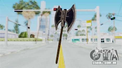 Skyrim Iron Battle Axe para GTA San Andreas