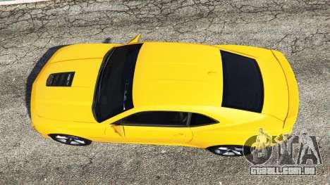 GTA 5 Chevrolet Camaro SS 2014 v1.1 voltar vista