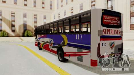 Superlines Ordinary Bus para GTA San Andreas esquerda vista