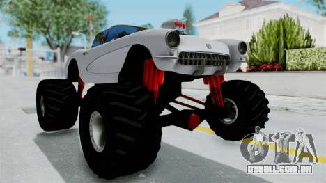 Chevrolet Corvette C1 1962 Monster Truck para GTA San Andreas vista direita