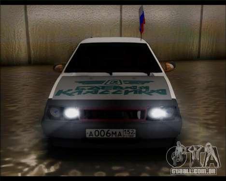 VAZ 2108 Militar Clássicos para GTA San Andreas vista direita