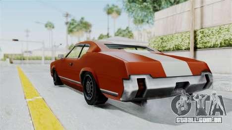 GTA Vice City - Sabre Turbo (Unsprayable) para GTA San Andreas esquerda vista