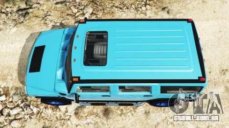 GTA 5 Hummer H2 2005 [matiz] v2.0 voltar vista