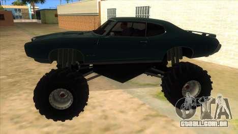 1969 Pontiac GTO Monster Truck para GTA San Andreas esquerda vista