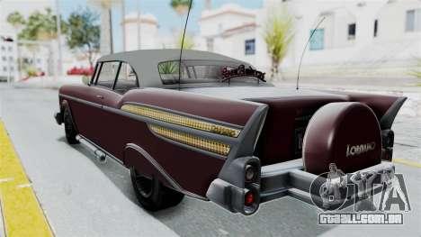 GTA 5 Declasse Tornado Bobbles and Plaques para GTA San Andreas traseira esquerda vista