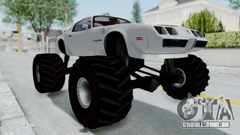 Pontiac Firebird Trans Am Monster Truck 1980 para GTA San Andreas
