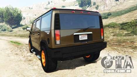 Hummer H2 2005 [coloridas] v2.0 para GTA 5