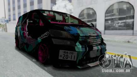 Toyota Vellfire Miku Pocky Exhaust Final Version para GTA San Andreas
