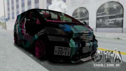 Toyota Vellfire Miku Pocky Exhaust Final Version para GTA San Andreas