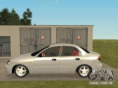 Daewoo Lanos (Sens) 2004 v2.0 by Greedy para GTA San Andreas traseira esquerda vista