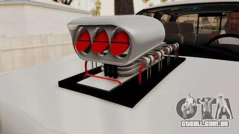 Chevrolet Silverado 2011 Monster Truck para GTA San Andreas vista traseira