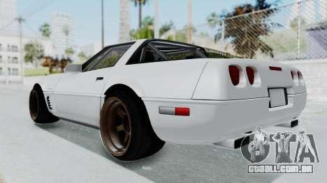Chevrolet Corvette C4 Drift para GTA San Andreas vista direita