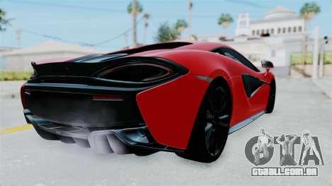McLaren 570S 2016 para GTA San Andreas vista direita