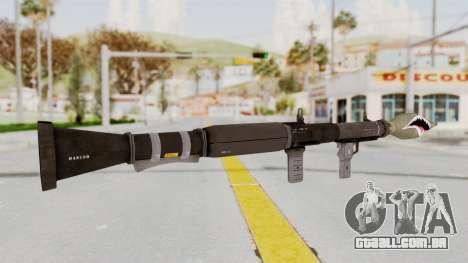 GTA 5 Rocket Launcher Shark mouth para GTA San Andreas terceira tela