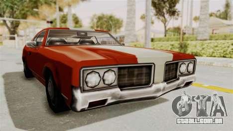 Beta VC Sabre Turbo para GTA San Andreas traseira esquerda vista