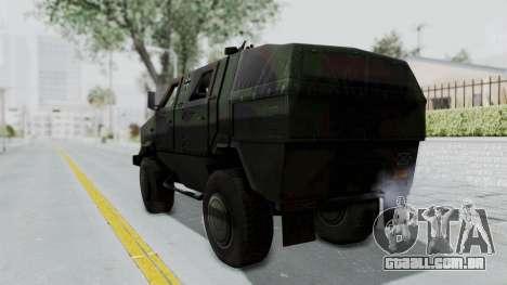 ATF Dingo para GTA San Andreas esquerda vista
