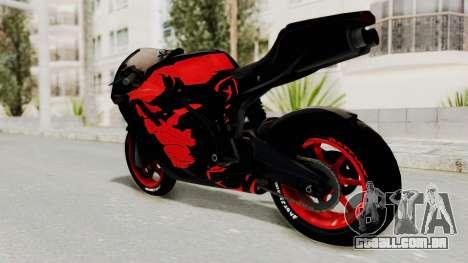 Bati Batik Hellboy Motorcycle v3 para GTA San Andreas esquerda vista