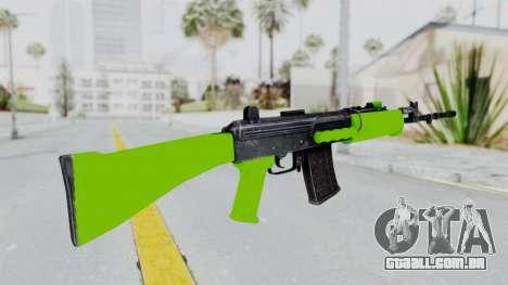 IOFB INSAS Light Green para GTA San Andreas segunda tela