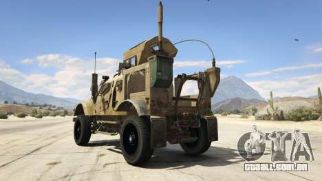 GTA 5 Oshkosh M-ATV 0.01 traseira vista lateral esquerda