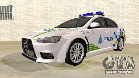 Mitsubishi Lancer Evolution X PDRM para GTA San Andreas