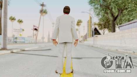Scarface Tony Montana Suit v4 with Glasses para GTA San Andreas terceira tela