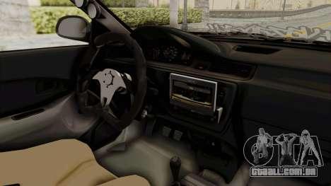 Honda Civic Hatchback 1994 Tuning para GTA San Andreas vista interior
