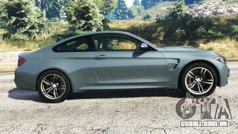 GTA 5 BMW M4 GTS vista lateral esquerda