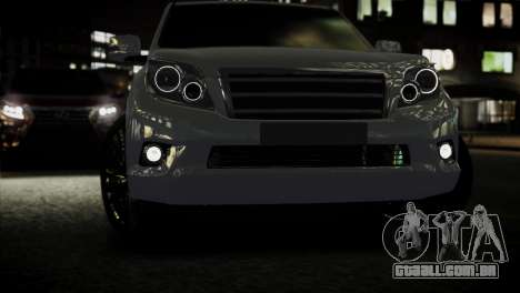 Toyota Land Crusier Prado 150 para GTA 4 vista direita