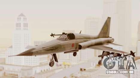 Northrop F-5E Tiger II JASDF para GTA San Andreas traseira esquerda vista