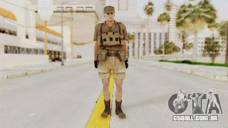 MGSV Phantom Pain CFA Combat Vest 1 v2 para GTA San Andreas segunda tela