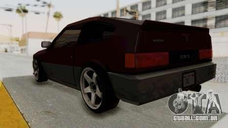 Blista CRX para GTA San Andreas esquerda vista