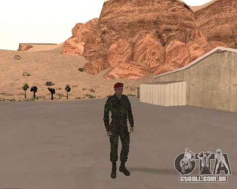 Pak Militar Russo para GTA San Andreas por diante tela