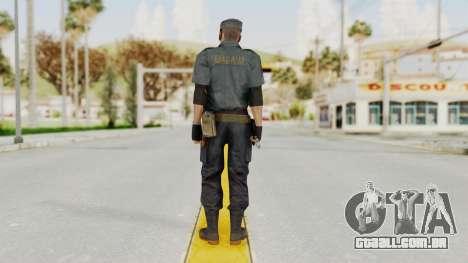 MGSV Phantom Pain Zero Risk Security Combat v2 para GTA San Andreas terceira tela