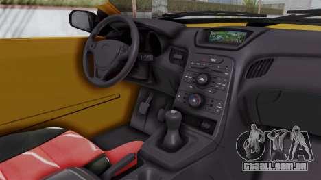 Nissan Maxima Spyder para GTA San Andreas vista interior