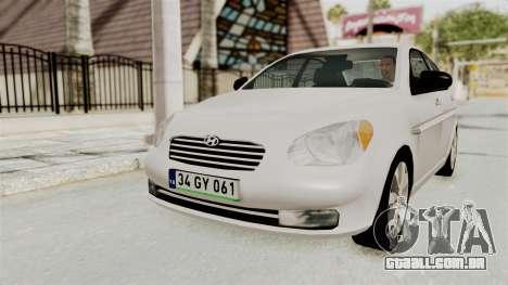 Hyundai Accent Era para GTA San Andreas esquerda vista