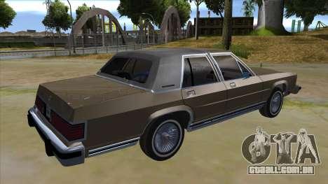 Mercury Grand Marquis 1986 v1.0 para GTA San Andreas vista direita