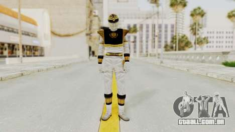 Mighty Morphin Power Rangers - White para GTA San Andreas segunda tela