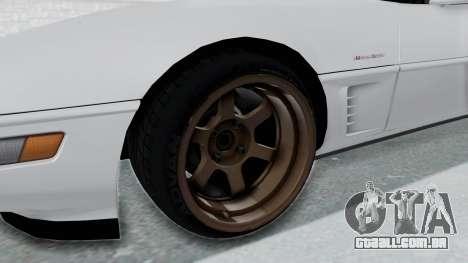 Chevrolet Corvette C4 Drift para GTA San Andreas vista traseira