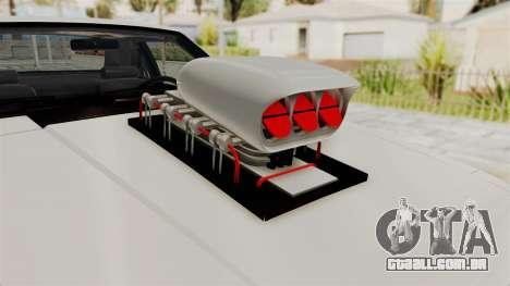 Ford Mustang 1991 Monster Truck para GTA San Andreas vista traseira