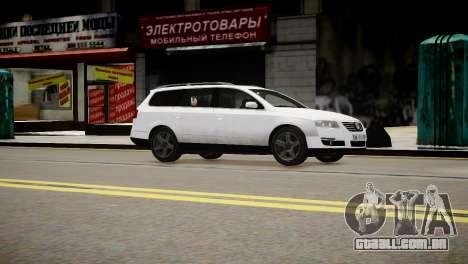 Volkswagen Passat Variant 2010 V1 para GTA 4 vista direita