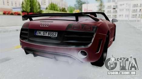 Audi R8 Spyder 2014 LB Work para GTA San Andreas vista direita