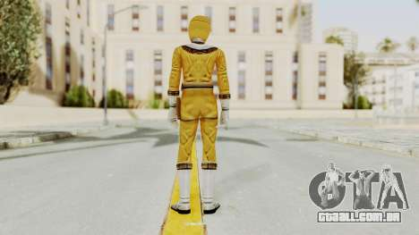 Power Ranger Zeo - Yellow para GTA San Andreas terceira tela