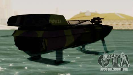 Triton Patrol Boat from Mercenaries 2 para GTA San Andreas esquerda vista