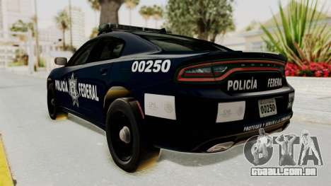 Dodge Charger RT 2016 Federal Police para GTA San Andreas esquerda vista