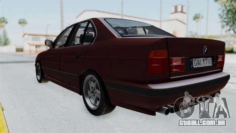 BMW 525i E34 1994 LT Plate para GTA San Andreas vista direita