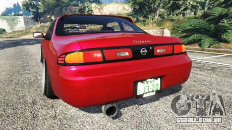 GTA 5 Nissan Silvia S14 Zenki Stance traseira vista lateral esquerda