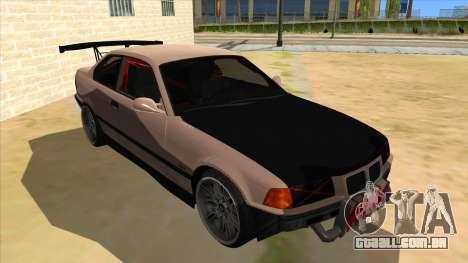 BMW M3 Drift Missile para GTA San Andreas vista traseira