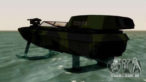 Triton Patrol Boat from Mercenaries 2 para GTA San Andreas traseira esquerda vista